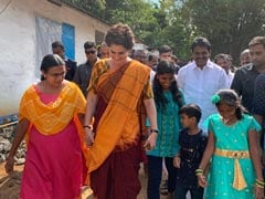 Priyanka Gandhi Meets Family Of Soldier Killed In Pulwama Attack
