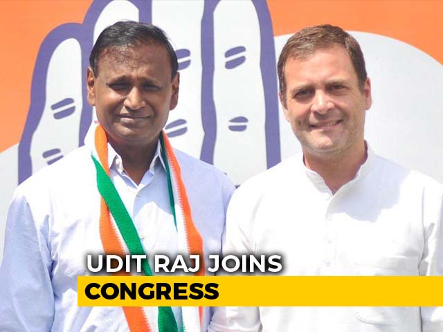 Video : BJP Lawmaker Udit Raj, Dropped From Candidates' List, Joins Congress