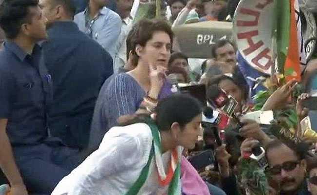Priyanka Gandhi Vadra Holds Roadshow In Ghaziabad: Highlights