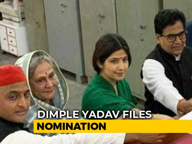 Video : Dimple Yadav Files Poll Papers For Her Third Fight From UP's Kannauj Seat