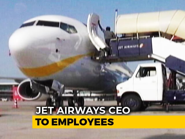 "Video : ""Will Work With Lenders To Revive Airline"": Jet CEO To Employees"