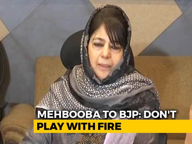 "Video : ""Playing With Fire"": J&K Parties Slam BJP Manifesto On Article 370, 35A"