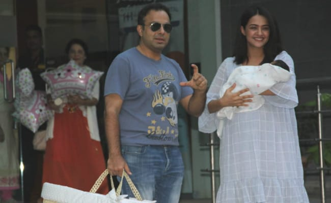 Pics: Surveen Chawla Takes New Born Daughter Eva Home