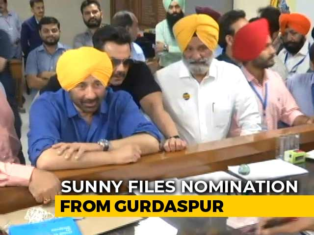 Video : BJP's Sunny Deol Files Nomination From Gurdaspur, Brother Bobby With Him