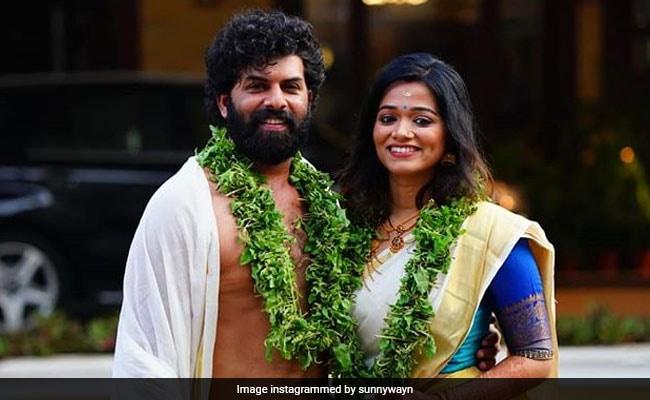 Malayalam Actor Sunny Wayne Marries Renjini Kunju In Guruvayoor, Dulquer Salmaan And Others Send Best Wishes
