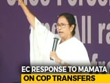 "Video : Mamata Banerjee ""Factually Incorrect"" In Note On Cop Transfers: Poll Body"