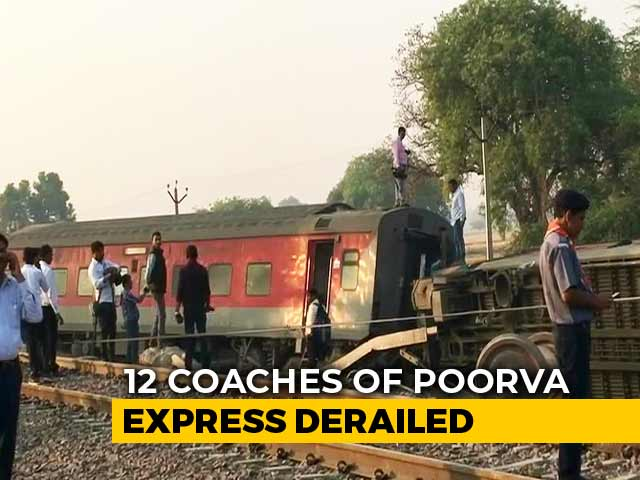 Video : 13 Injured As 12 Coaches Of Delhi-Bound Train Derail Near Kanpur