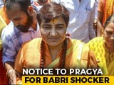 "Video : ""Proud"" Of Babri Masjid Demolition, Says BJP's Pragya Thakur, Gets Notice"