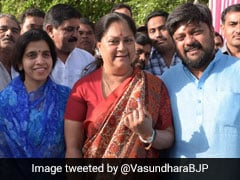 General Elections 2019: Vasundhara Raje Tweets Pic With Son After Voting, Has A Message On PM