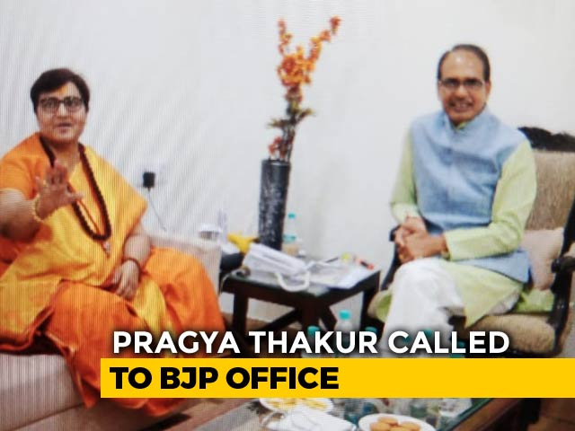 """Video : In 4-Hour Meet, Pragya Thakur Told By BJP To """"Avoid Provocative Remarks"""""""