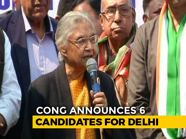 Video : Sheila Dikshit To Contest From Delhi, Congress Names 6 Candidates