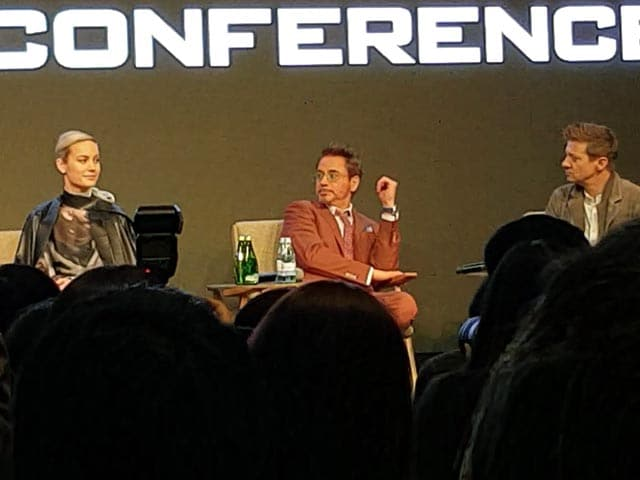 Robert Downey Jr, Brie Larson & Jeremy Renner Talk About Thanos