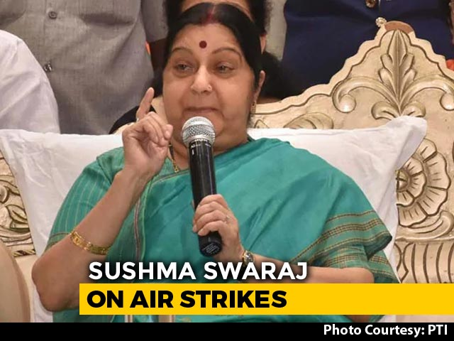 Video : No Pak Soldier Or Citizen Died In Balakot Air Strike, Says Sushma Swaraj