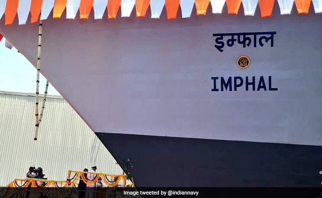 Navy Launches Guided Missile Destroyer INS Imphal Under Project 15B