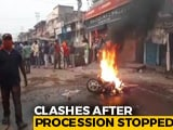Video : Violence At Bengal's Ram Navami Rally, Cops Targeted, Vehicles Set Ablaze