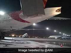 Empty Air India Plane Catches Fire At Delhi Airport During Repair Work