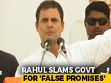 Video : We Will Give Employment To 22 Lakh Youth If Voted To Power, Says Rahul Gandhi