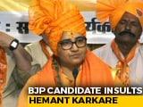 "Video: Had ""Cursed"" Hemant Karkare, Brags Sadhvi Pragya, Claps From BJP"
