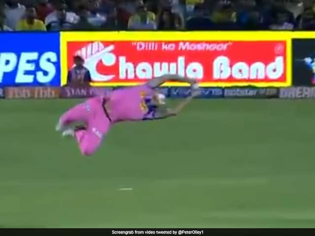 RR vs CSK: Ben Stokes Pulls Of An Unmissable Flying Catch To Dismiss Kedar Jadhav