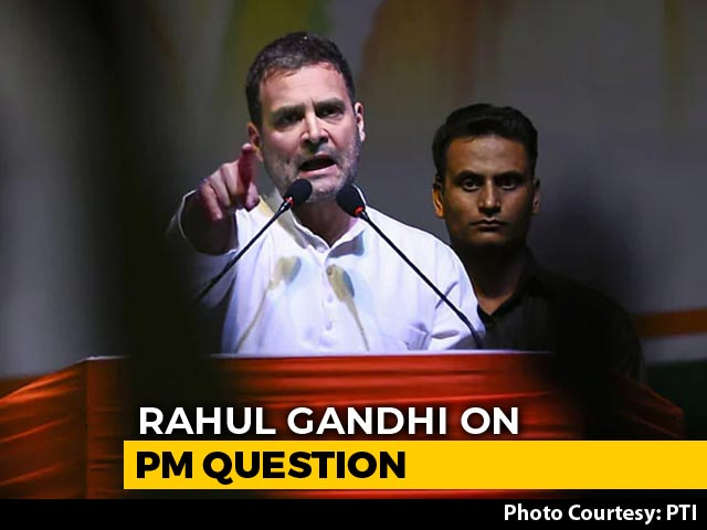 """Video : """"Ask People Of Country,"""" Says Rahul Gandhi, On PM Question"""