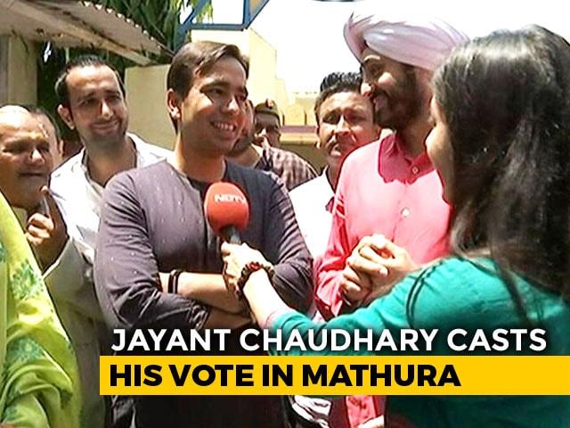 Video : Rashtriya Lok Dal's Jayant Chaudhary Casts His Vote In Mathura