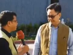"""This Is Not A Special Election..."": Kiren Rijiju To NDTV"