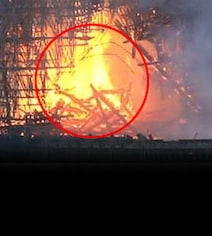 Netizens Convinced That Figure Of Christ Appeared In Notre Dame Fire