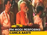 Video : PM Modi Performs <i>Aarti</i> At Dashashwamedh Ghat In Varanasi