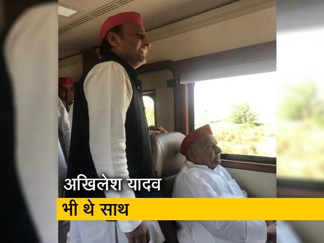Video : मुलायम सिंह ने मैनपुरी से भरा पर्चा