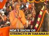 Video : PM Begins Mega Varanasi Roadshow, Day Before Nomination