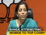 """Video: """"Contempt Of Court"""" BJP's Fresh Accusation Against Rahul Gandhi On Rafale"""