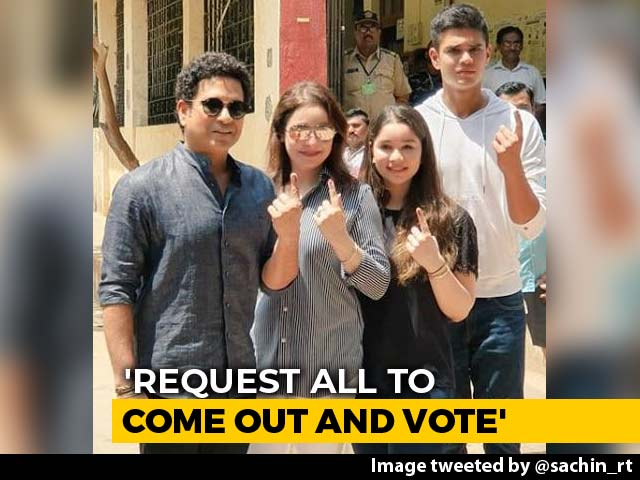 Video: Sachin Tendulkar's Family, With Two First-Timers, Votes In Mumbai