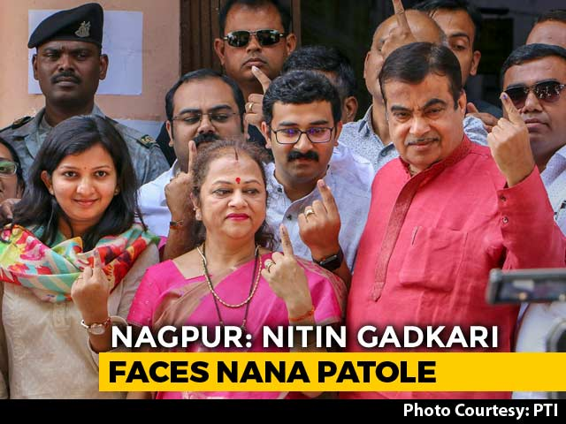 Video : Union Minister Nitin Gadkari Faces Ex-BJP Leader Nana Patole In Nagpur