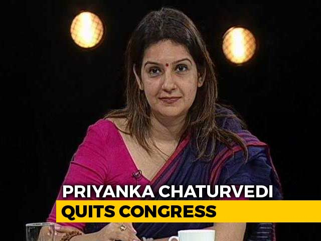 Video : Congress's Priyanka Chaturvedi Quits Party Day After Tweet Criticising It