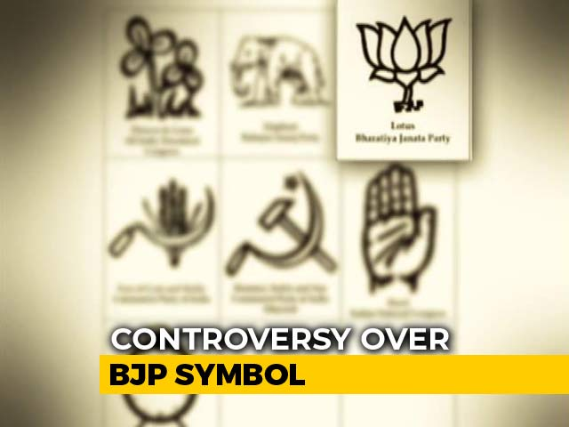 "Video : Opposition Claims ""BJP"" Written Under Lotus Symbol On Voting Machines"