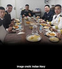 Chinese Officers Treated To Chole Bhature Onboard INS Shakti