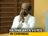 Video : Rajinikanth Votes In Chennai In Second Phase Of Lok Sabha Elections