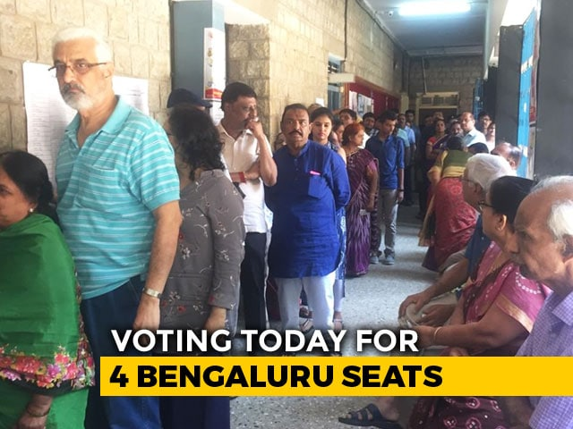 "Video : ""Cannot Miss It"": Bengalureans Come Out In Large Numbers To Cast Their Votes"