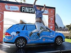 "Dutchman Ends ""World's Longest Electric Car Trip"" In Australia"