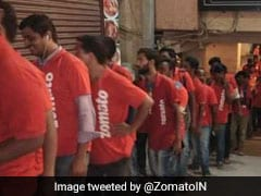 Viral: Photo Showing Never-Ending Queue Of Zomato Delivery People Outside Hyderabad Restaurant