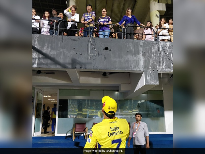 MS Dhoni, Shah Rukh Khan Captured In One Frame During CSK vs KKR IPL 2019 Match
