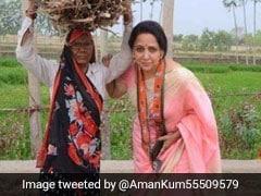 हेमा मालिनी ने महिला को रोककर खिंचवाई फोटो, उड़ा मजाक, लोग बोले- उज्जवला योजना की पोल खोल दी