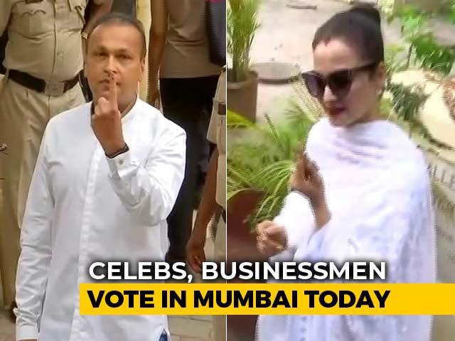 Video : Anil Ambani, Actor Rekha Cast Vote As Polling Begins In Mumbai