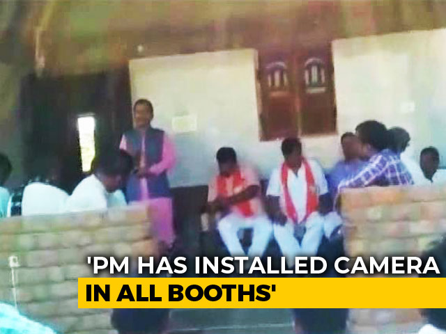 PM Modi Has Installed Cameras, Will Know If You Vote Congress: BJP Leader