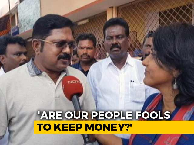 "Video : ""Are Our People Fools To Keep Money"": TTV Dhinakaran Talks On Cash Haul From Party Office"
