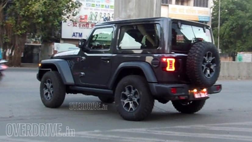 New Jeep Wrangler 3 Door Spotted Testing In India Sans Camouflage