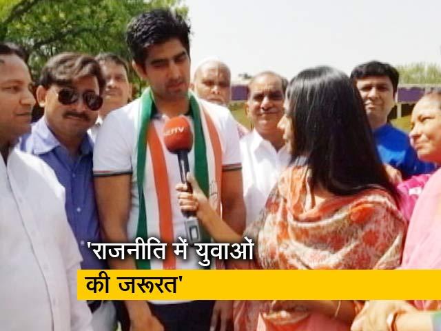 Videos : मैं चाहता हूं कि राजनीति में युवा आएं - विजेंदर सिंह