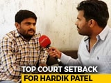 "Video : ""What Setback?"": Hardik Patel Says Court Decision More Dangerous For BJP"