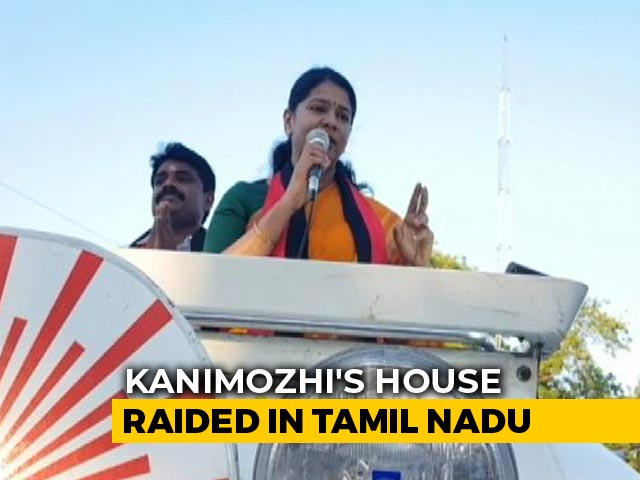 DMK Leader Kanimozhi's Home Raided By Income Tax Officials