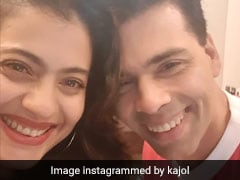 Kajol Shares Pic With 'The Real Thing' After Karan Johar Unveils Wax Statue